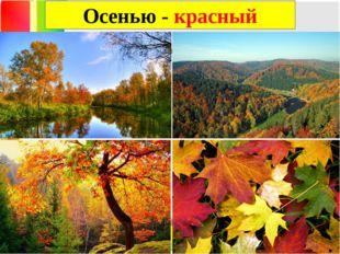 Осенью - красный