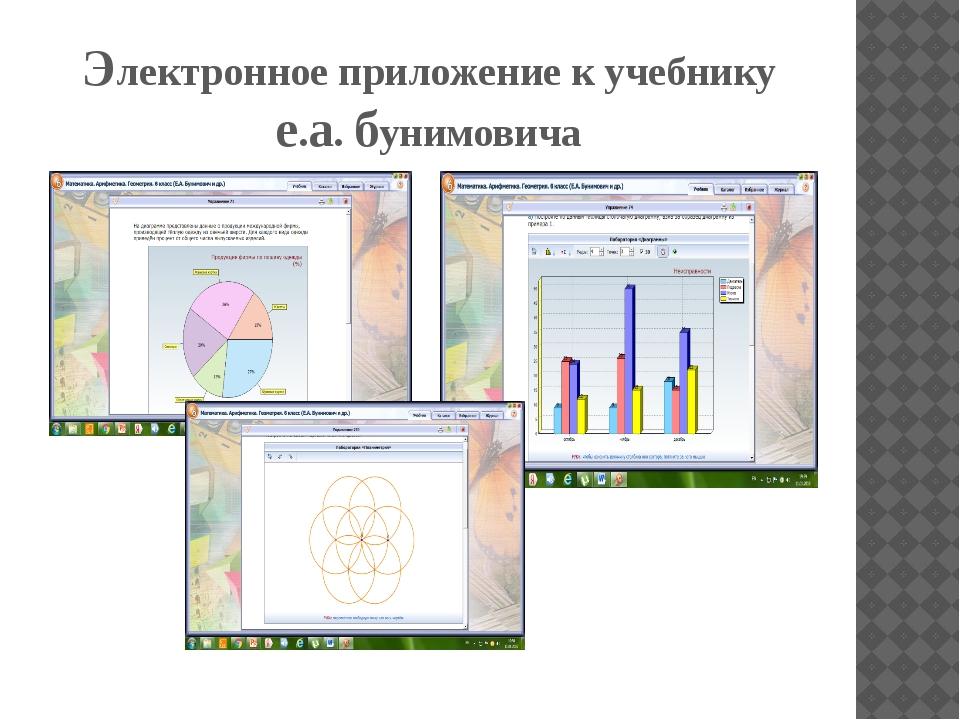 Электронное приложение к учебнику е.а. бунимовича