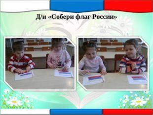 Д/и «Собери флаг России»