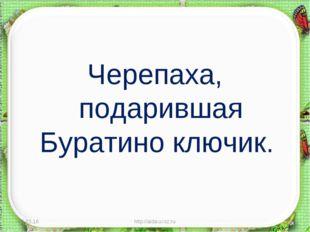 Черепаха, подарившая Буратино ключик. * http://aida.ucoz.ru * http://aida.uco