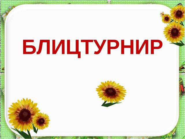 БЛИЦТУРНИР