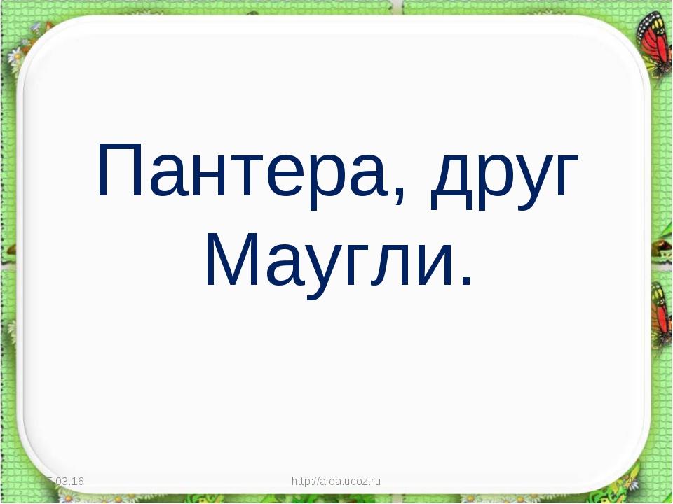 Пантера, друг Маугли. * http://aida.ucoz.ru * http://aida.ucoz.ru
