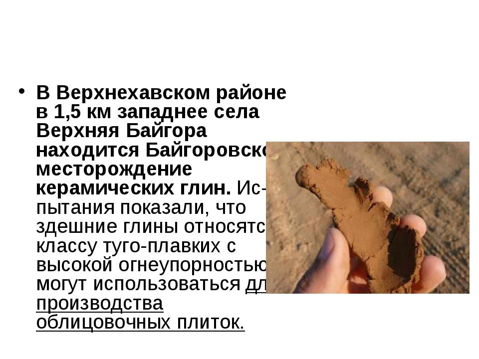 В Верхнехавском районе в 1,5 км западнее села Верхняя Байгора находится Байго...