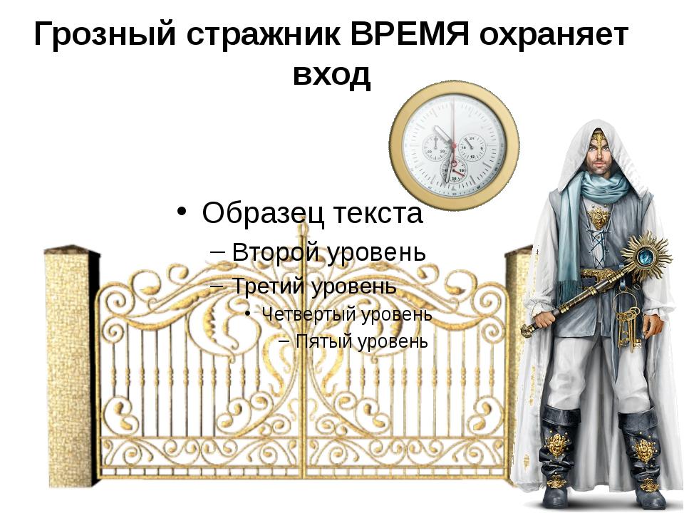 Грозный стражник ВРЕМЯ охраняет вход
