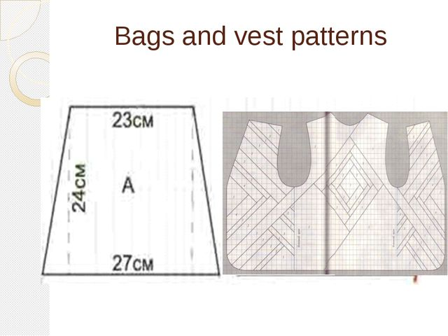 Bags and vest patterns
