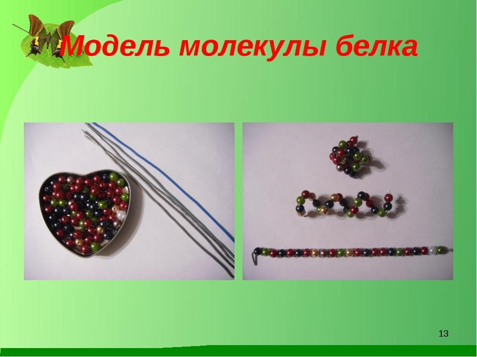 Модель молекулы белка *