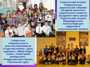 Родительский всеобуч Общешкольные родительские собрания Заседания школьного