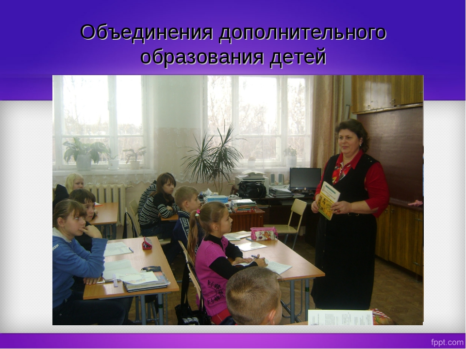 Объединения дополнительного образования детей