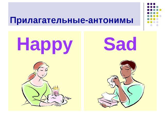 Прилагательные-антонимы Happy Sad