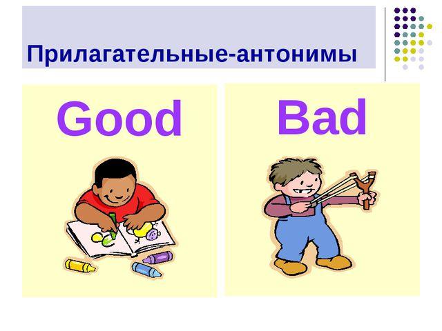 Прилагательные-антонимы Good Bad