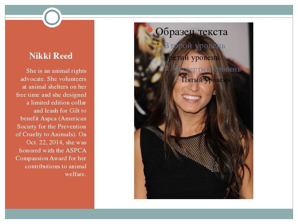 Nikki Reed She is an animal rights advocate. She volunteers at animal shelter...