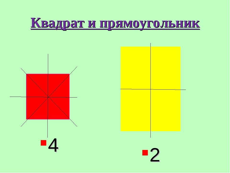 Квадрат и прямоугольник 4 2