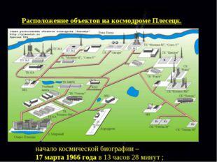 Расположение объектов на космодроме Плесецк. начало космической биографии – 1