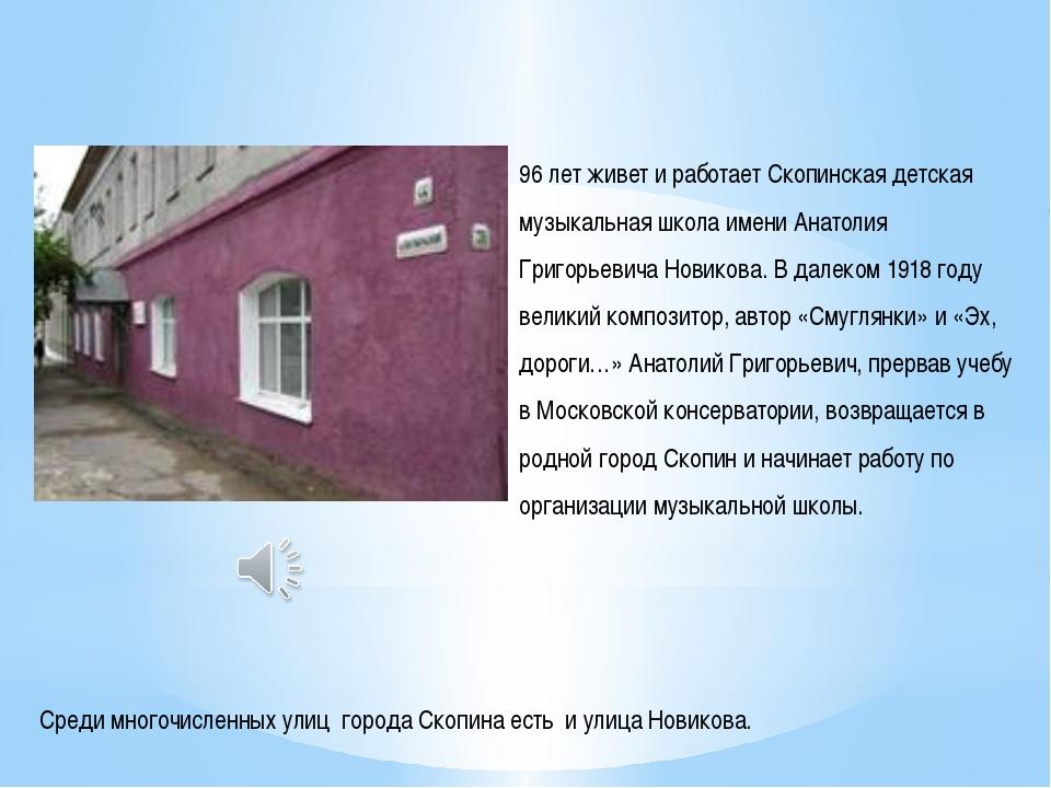 Среди многочисленных улиц города Скопина есть и улица Новикова. 96 лет живет...