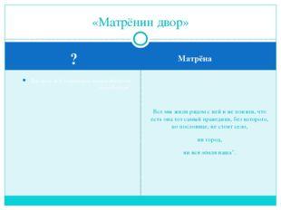 ? Матрёна Так прав ли Солженицын, назвав Матрёну праведником? Все мы жили ря