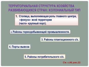 ТЕРРИТОРИАЛЬНАЯ СТРУКТУРА ХОЗЯЙСТВА РАЗВИВАЮЩИХСЯ СТРАН: КОЛОНИАЛЬНЫЙ ТИП Сто