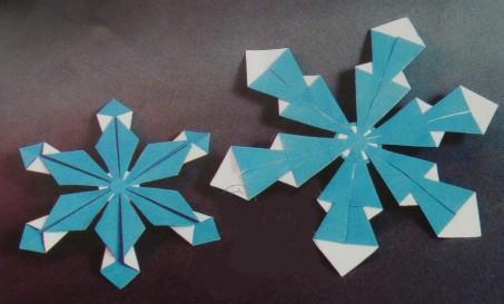 Конспект занятия по оригами для детей 5–6 лет: складывание фигурки «Снежинка»