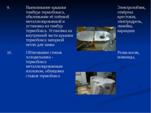 9. Выпиливание крышки тамбура термобокаса, обклеивание её плёнкой металлизиро