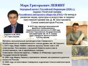 Марк Григорьевич ЛЕВЯНТ Народный артист Российской Федерации (2006 г.), лауре