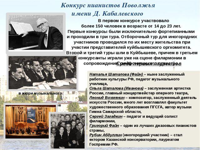 Д.Кабалевский в жюри музыкального конкурса в Куйбышеве В первом конкурсе учас...