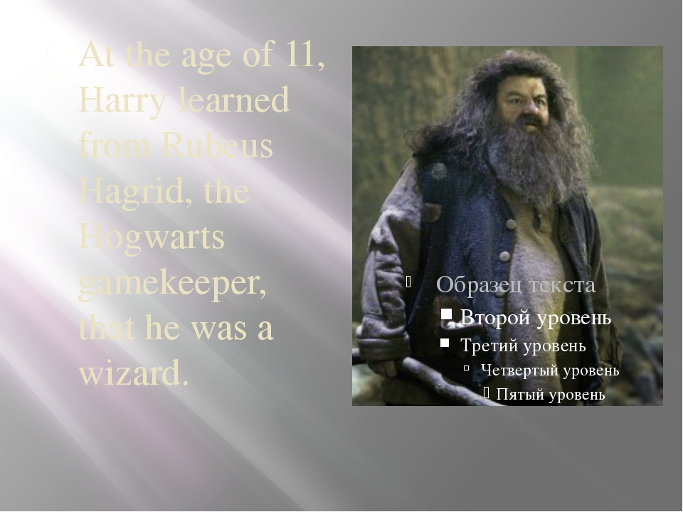 At the age of 11, Harry learned from Rubeus Hagrid, the Hogwarts gamekeeper,...