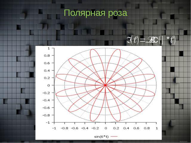 Полярная роза r(t)=sin(6*t)