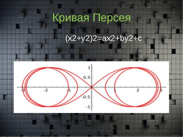 Кривая Персея (x2+y2)2=ax2+by2+c
