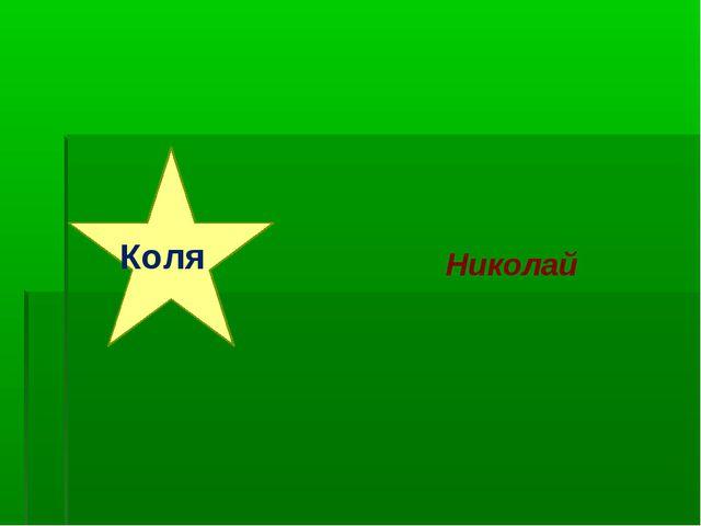 Коля Николай