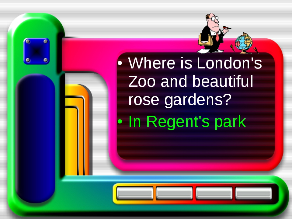 Where is London's Zoo and beautiful rose gardens? In Regent's park