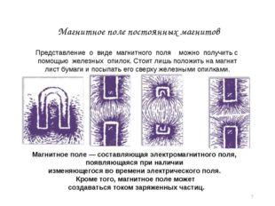 * Магнитное поле постоянных магнитов Магнитное поле — составляющая электромаг