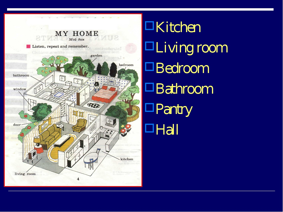 Kitchen Living room Bedroom Bathroom Pantry Hall
