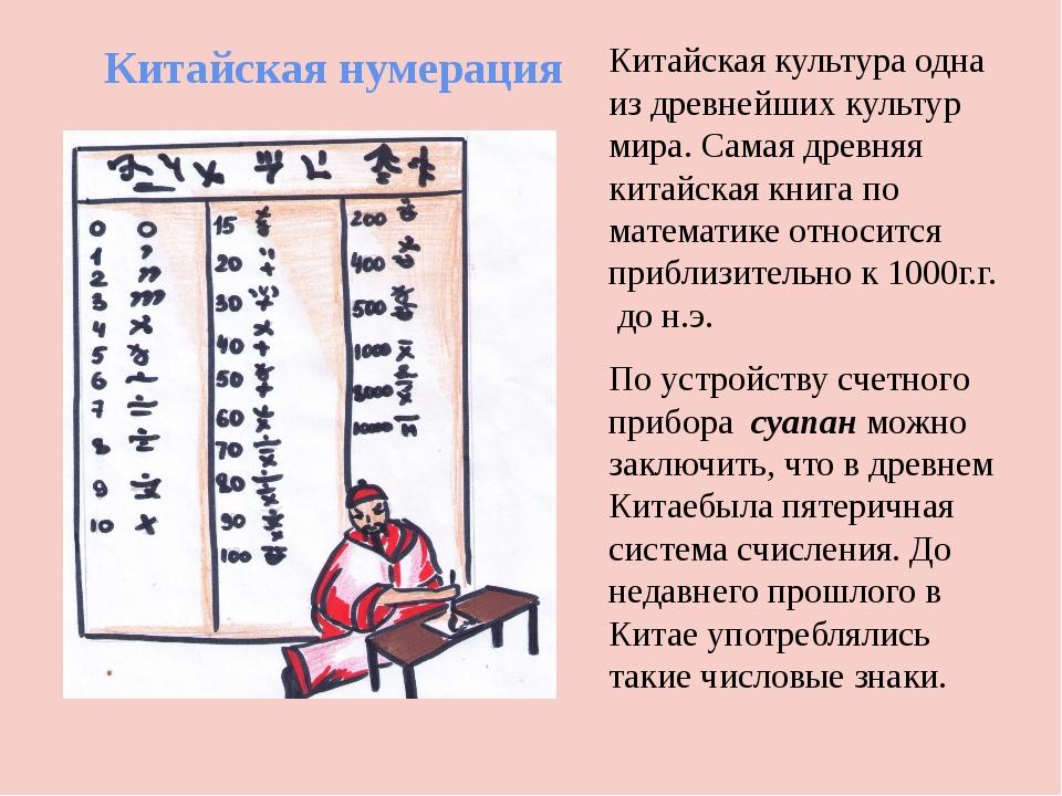 Китайская нумерация Китайская культура одна из древнейших культур мира. Самая...