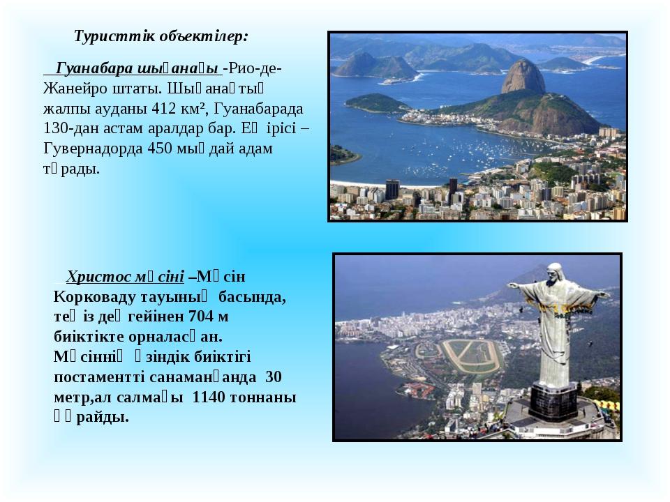 Гуанабара шығанағы -Рио-де-Жанейро штаты. Шығанақтың жалпы ауданы 412 км², Г...