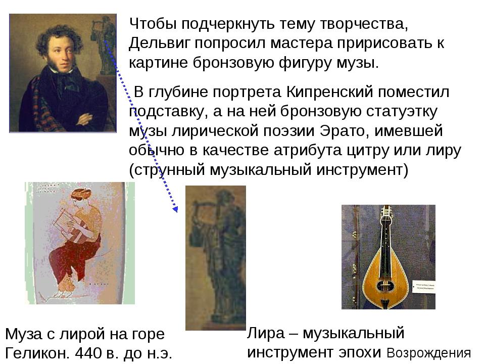 Чтобы подчеркнуть тему творчества, Дельвиг попросил мастера пририсовать к кар...