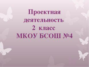 Проектная деятельность 2 класс МКОУ БСОШ №4