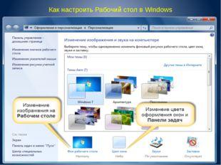 Как настроить Рабочий стол в Windows