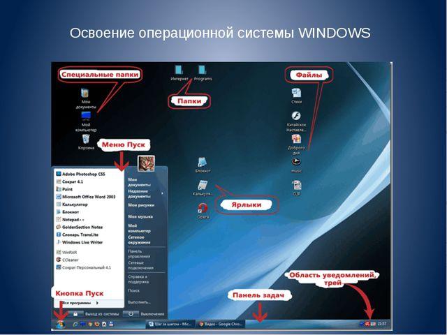 Освоение операционной системы WINDOWS