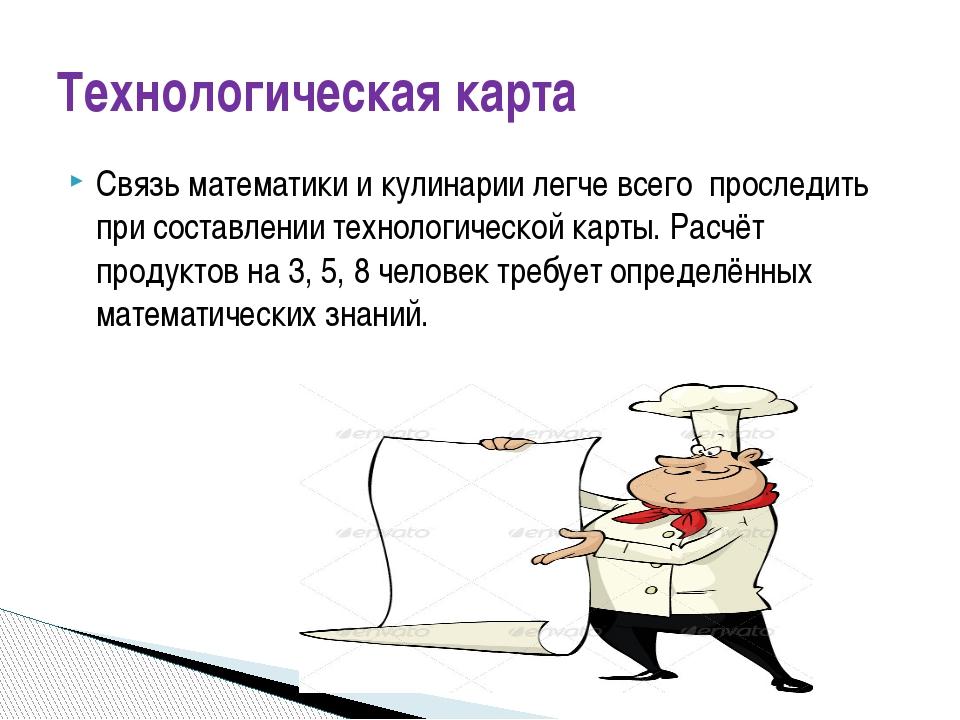 Связь математики и кулинарии легче всего проследить при составлении технологи...