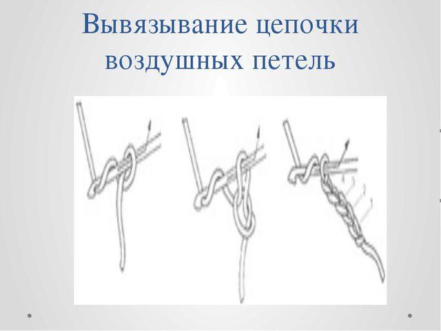 Вывязывание цепочки воздушных петель