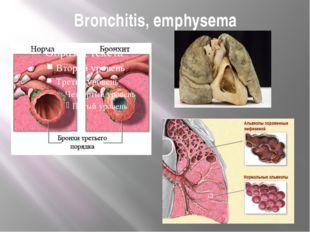 Bronchitis, emphysema