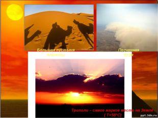 Триполи – самое жаркое место на Земле ( Τ+58°C) Большая пустыня планеты Песч
