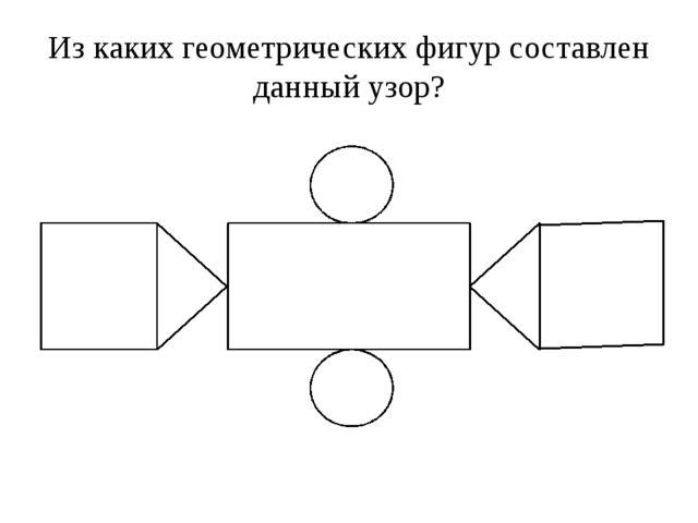 Из каких геометрических фигур составлен данный узор?