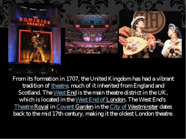From its formation in 1707, the United Kingdom has had a vibrant tradition of...