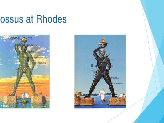 Colossus at Rhodes
