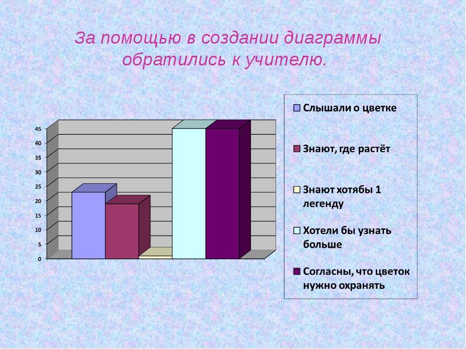 За помощью в создании диаграммы обратились к учителю.