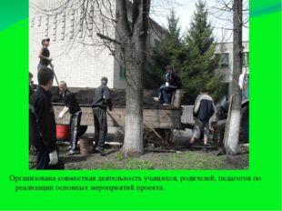 Организована совместная деятельность учащихся, родителей, педагогов по реализ