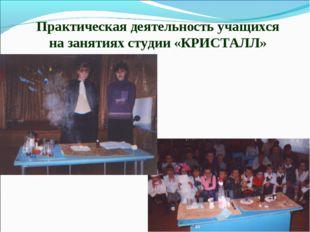 Практическая деятельность учащихся на занятиях студии «КРИСТАЛЛ»