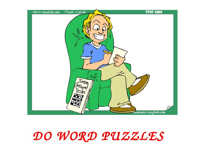 DO WORD PUZZLES