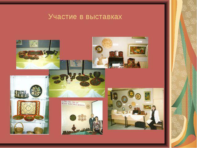 Участие в выставках
