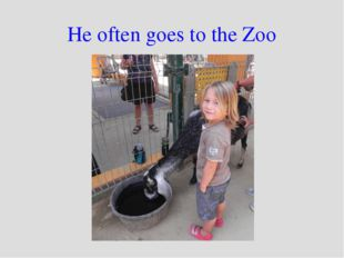 He often goes to the Zoo